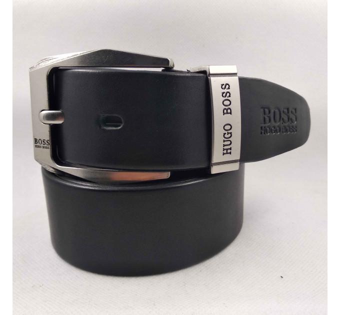 Мужской ремень джинсовый Exclusive hb40-035 черный