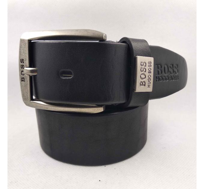 Мужской ремень джинсовый Exclusive hb40-036 черный