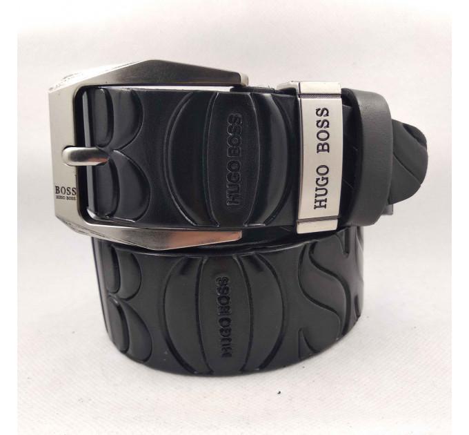 Мужской ремень джинсовый Exclusive hb40-037 черный