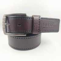 Мужской ремень джинсовый Exclusive hb40-038 коричневый