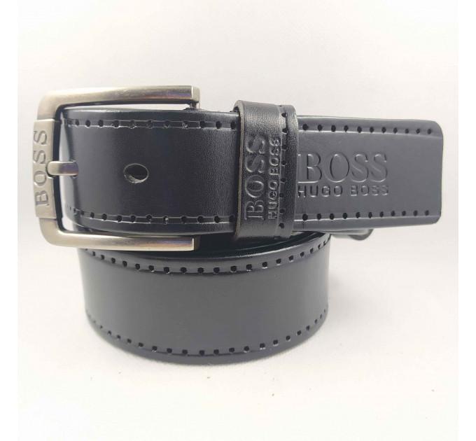Мужской ремень джинсовый Exclusive hb40-039 черный