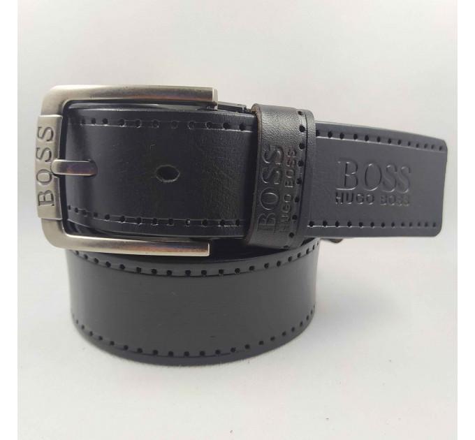 Мужской ремень джинсовый Exclusive hb40-040 черный