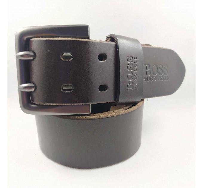 Мужской ремень для джинсов hb45-007 коричневый
