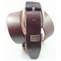 Мужской ремень джинсовый Exclusive hb40-049 коричневый