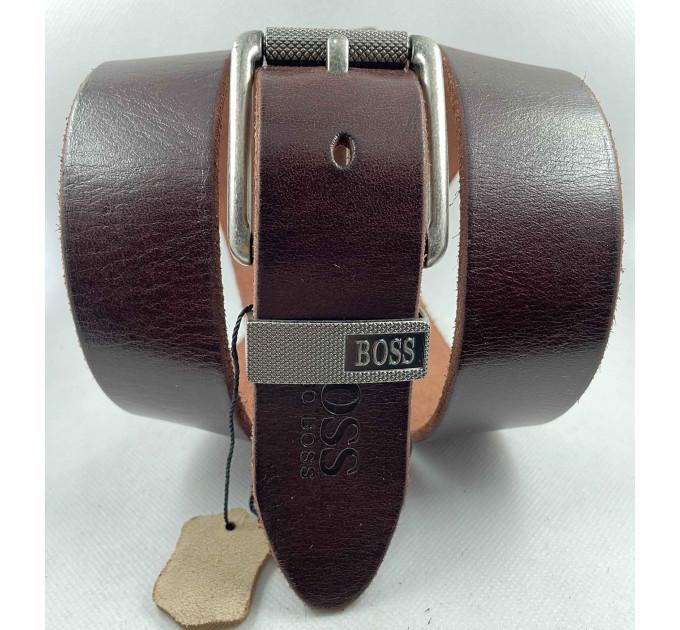 Мужской ремень джинсовый Exclusive hb40-052 коричневый