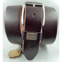 Мужской ремень джинсовый Exclusive hb40-054 коричневый