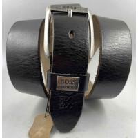 Мужской ремень джинсовый Exclusive hb40-056 темно-коричневый