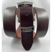 Мужской ремень джинсовый Exclusive hb40-057 коричневый