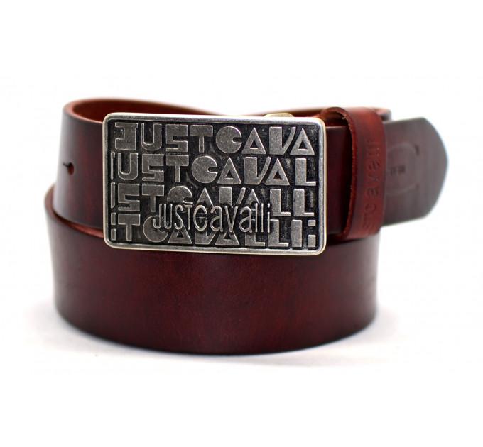 Мужской ремень джинсовый Exclusive jc40-002 коричневый