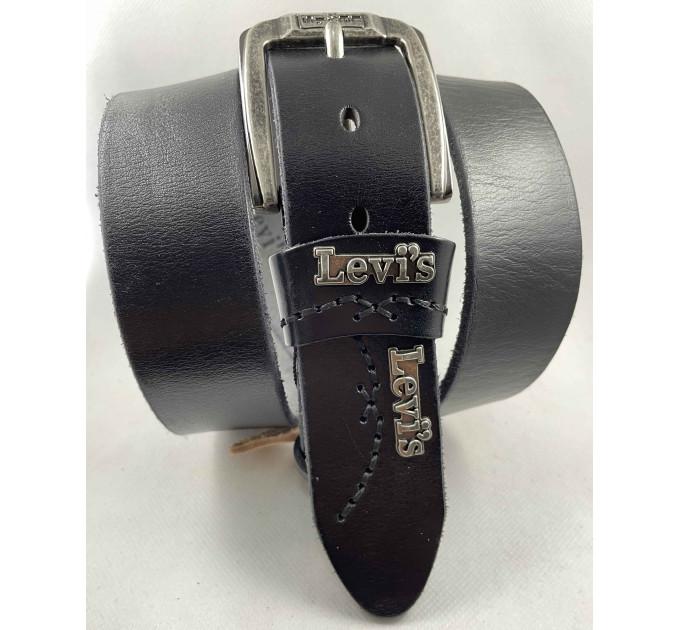 Мужской ремень джинсовый Exclusive Lv40-016 черный