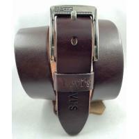 Мужской ремень джинсовый Exclusive Lv40-020 коричневый