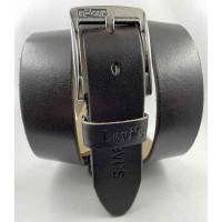 Мужской ремень джинсовый Exclusive Lv40-021 темно-коричневый