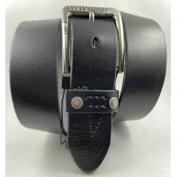 Мужской ремень джинсовый Exclusive Lv40-022 черный