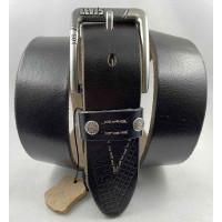 Мужской ремень джинсовый Exclusive Lv40-024 темно-коричневый