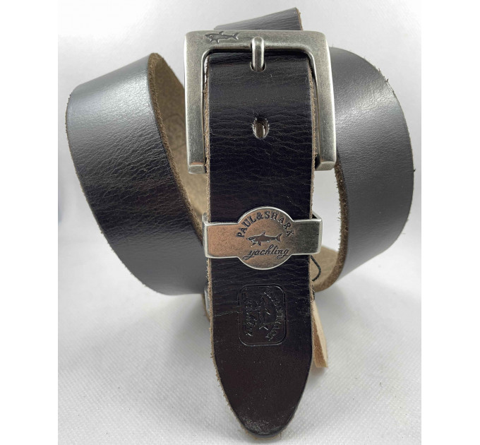 Мужской ремень джинсовый Exclusive SP40-001 темно-коричневый
