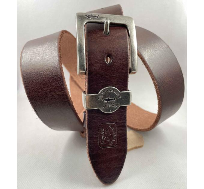 Мужской ремень джинсовый Exclusive SP40-002 коричневый