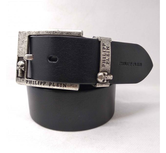 Мужской ремень джинсовый Exclusive PP40-016 черный