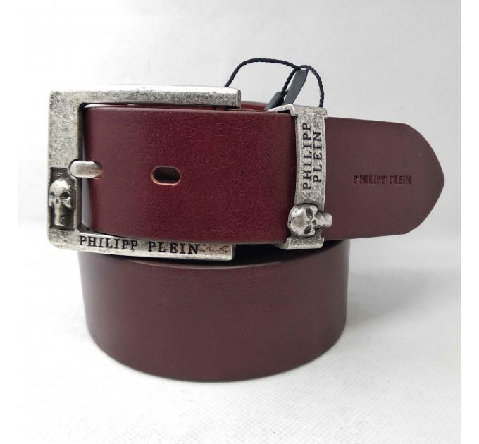 Мужской ремень джинсовый Exclusive PP40-017 коричневый