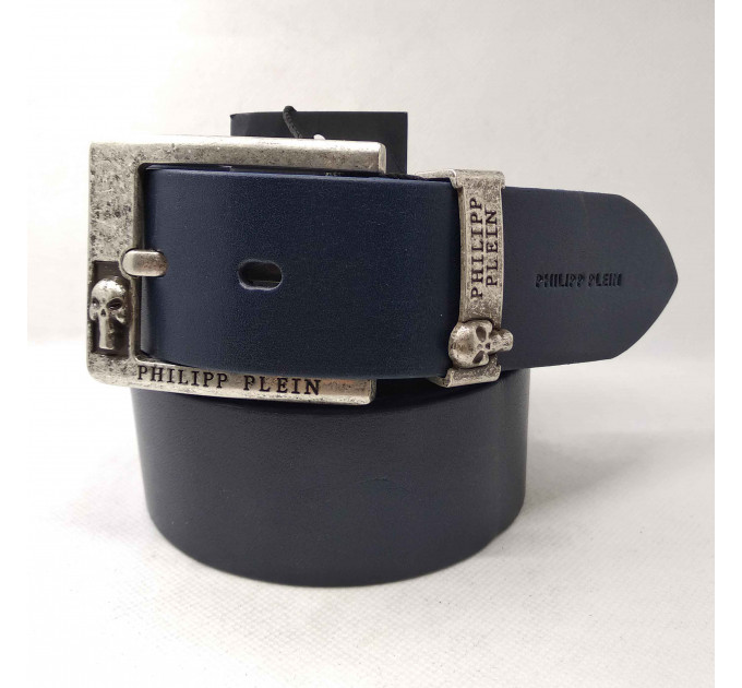 Мужской ремень джинсовый Exclusive PP40-018 синий