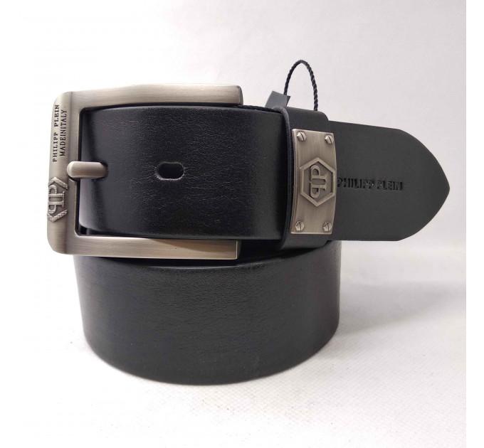 Мужской ремень джинсовый Exclusive PP40-019 черный