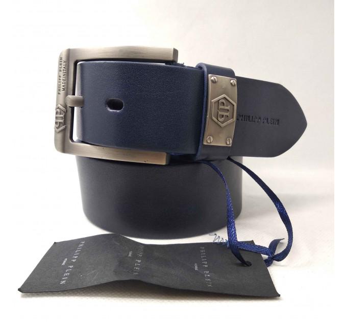 Мужской ремень джинсовый Exclusive PP40-020 синий