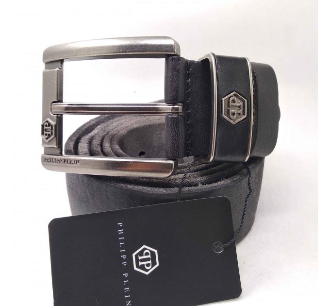 Мужской ремень джинсовый Exclusive PP40-021 черный