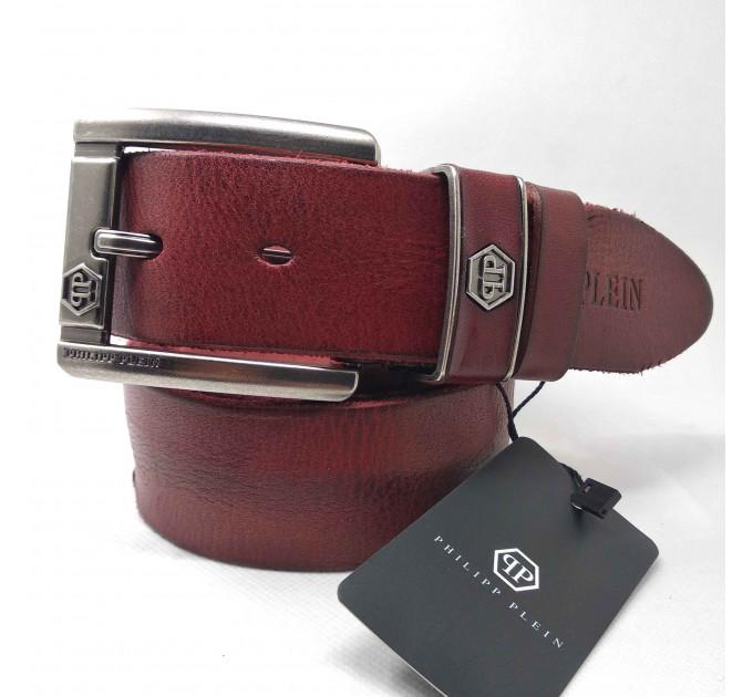 Мужской ремень джинсовый Exclusive PP40-022 коричневый