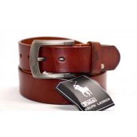 Мужской ремень джинсовый Exclusive P40-004 коричневый