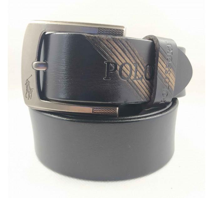 Мужской ремень джинсовый Exclusive P40-010 коричневый