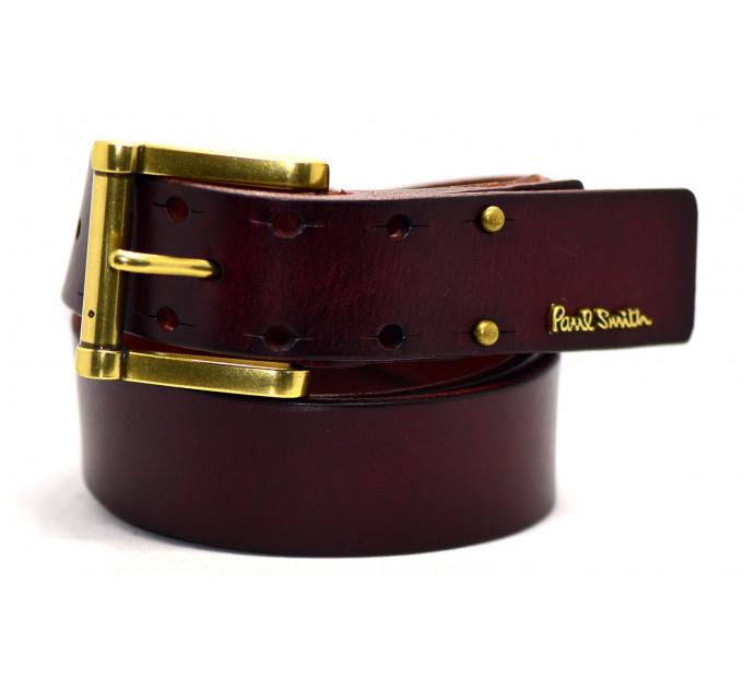 Мужской ремень джинсовый Exclusive ps40-006 коричневый
