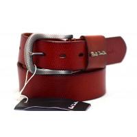 Мужской ремень джинсовый Exclusive ps40-009 коричневый