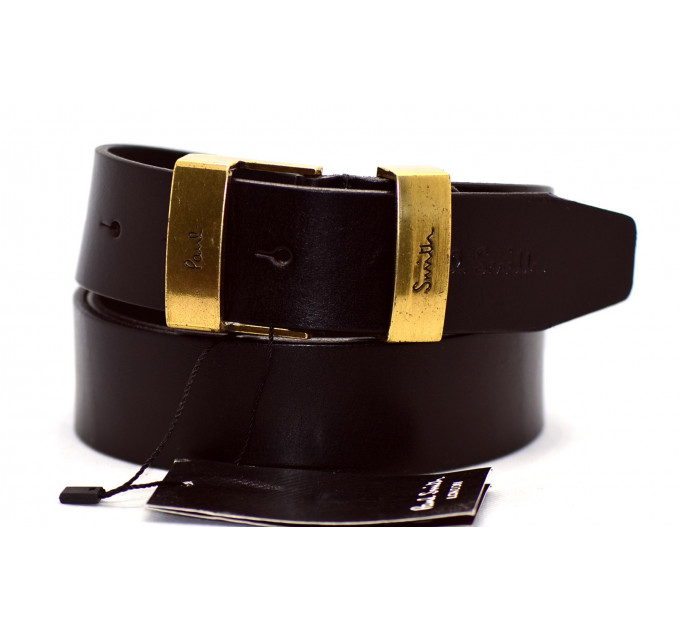 Мужской ремень джинсовый Exclusive ps40-011 коричневый