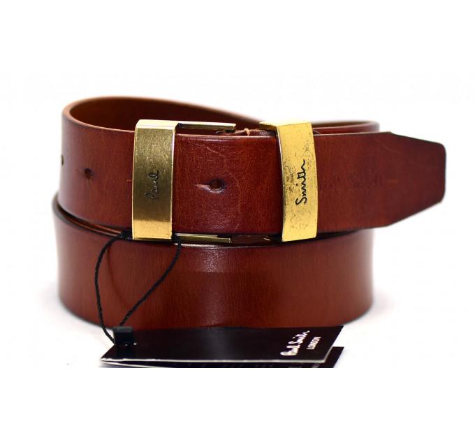 Мужской ремень джинсовый Exclusive ps40-012 коричневый