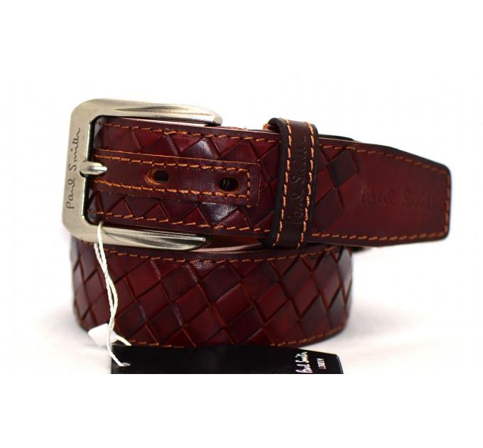 Мужской ремень джинсовый Exclusive ps40-014 коричневый