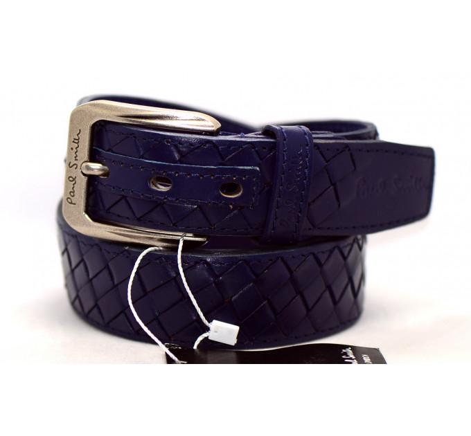 Мужской ремень джинсовый Exclusive ps40-016 синий