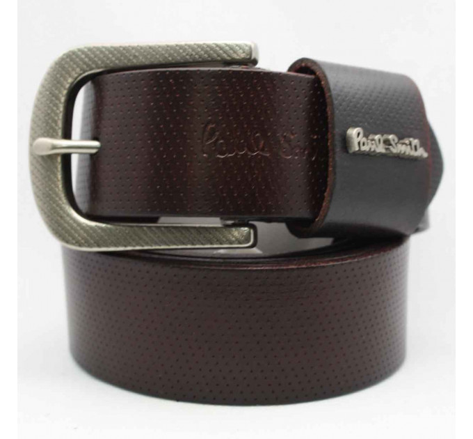 Мужской ремень джинсовый Exclusive ps40-022 коричневый