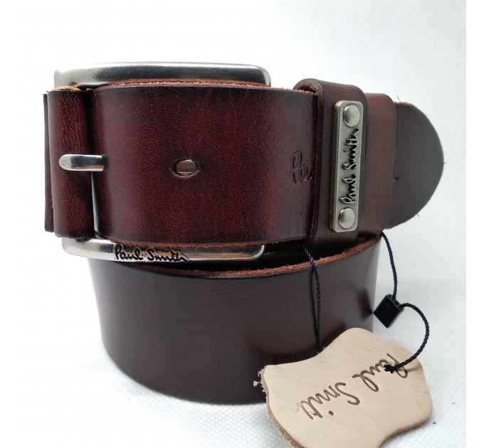 Мужской ремень джинсовый Exclusive ps40-025 коричневый