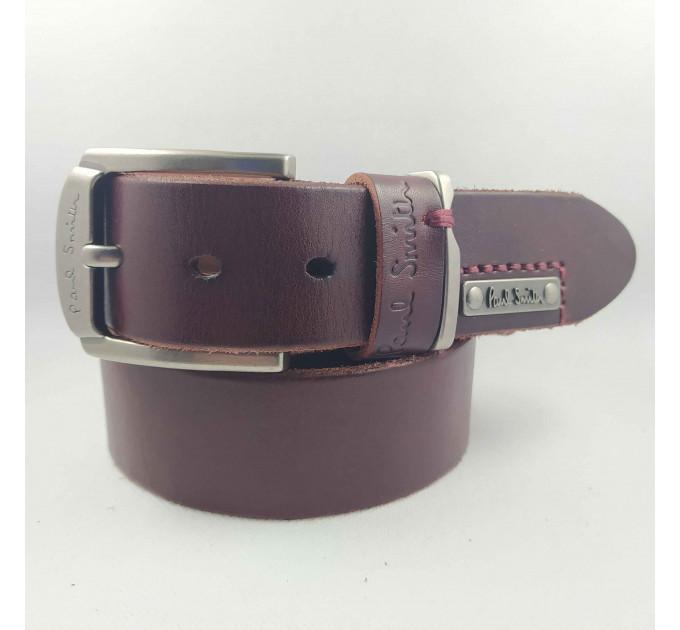Мужской ремень джинсовый Exclusive ps40-027 коричневый