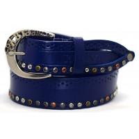 Ремень джинсовый rp40-001 синий