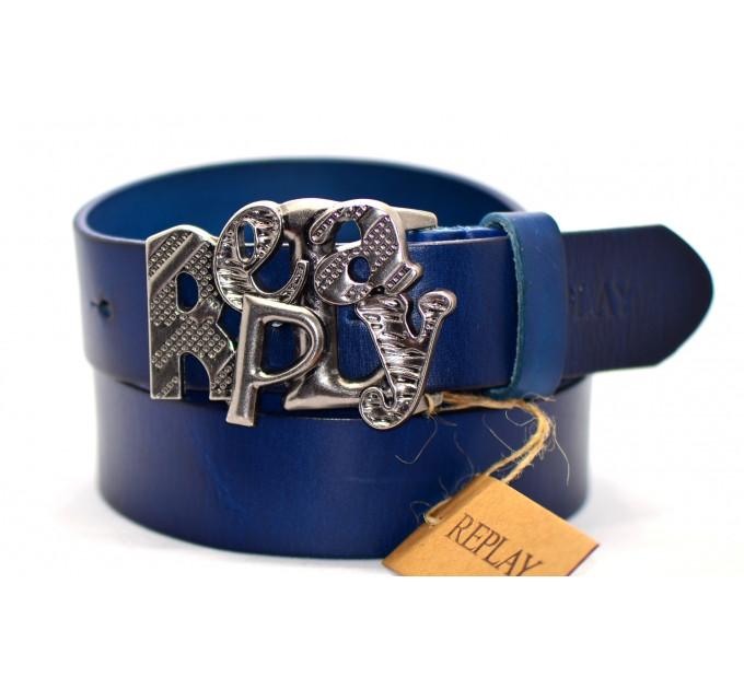 Мужской ремень джинсовый Exclusive rp40-007 синий