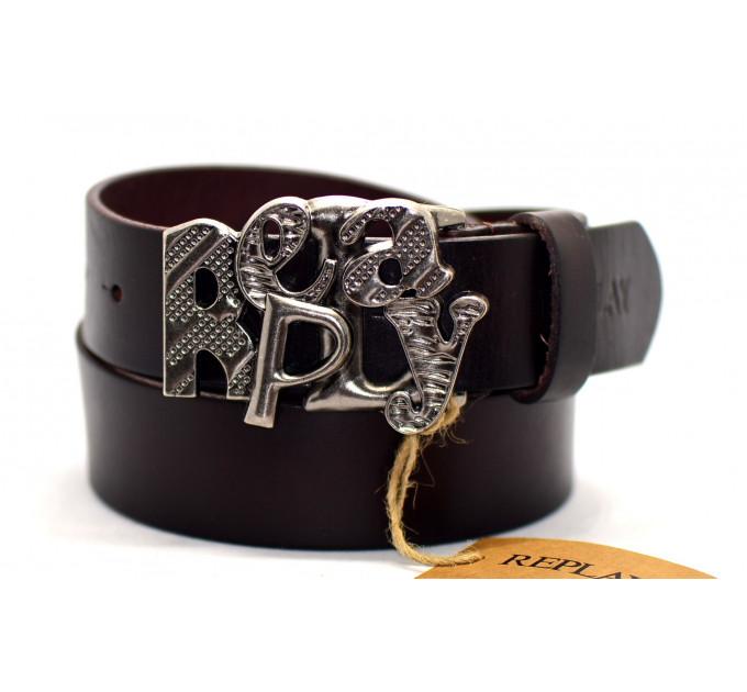 Мужской ремень джинсовый Exclusive rp40-008 черный