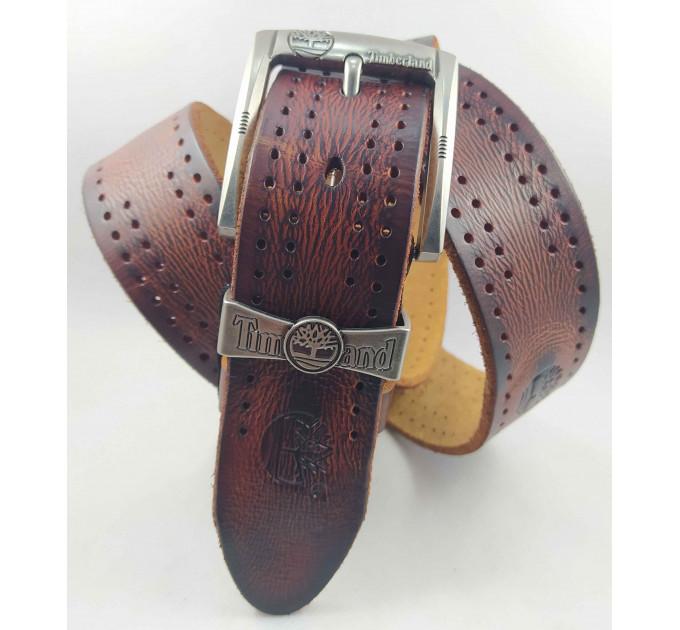Мужской ремень джинсовый ExclusiveTd40-013 коричневый