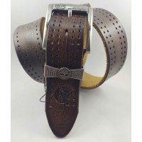 Мужской ремень джинсовый Exclusive Td40-015 коричневый