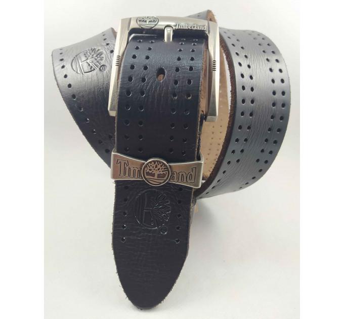 Мужской ремень джинсовый Exclusive Td40-016 темно-коричневый