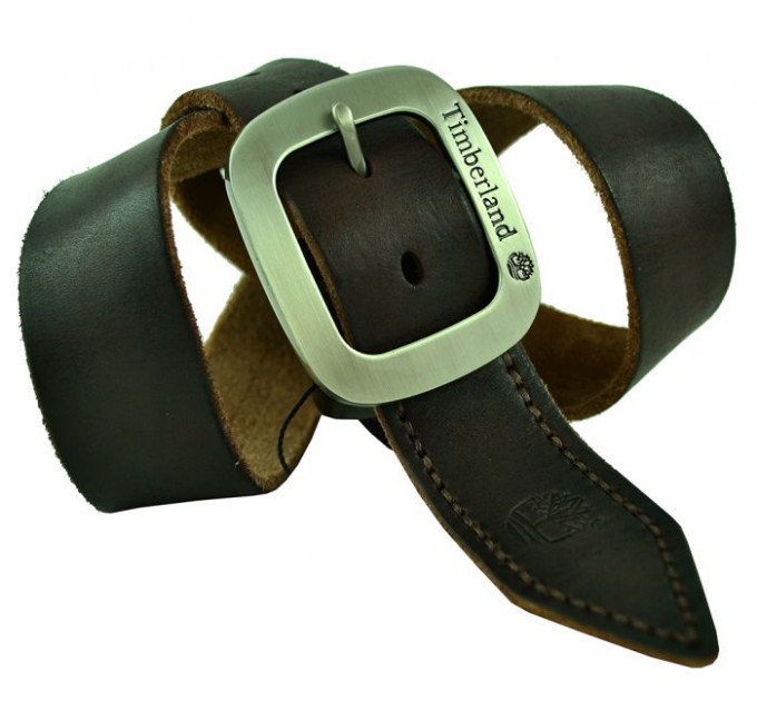 Мужской ремень джинсовый Exclusive Td40-004 коричневый