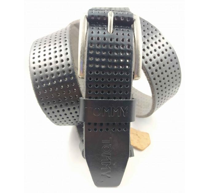 Мужской ремень джинсовый Exclusive TH40-049 черный