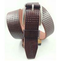 Мужской ремень джинсовый Exclusive TH40-050 коричневый