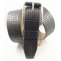 Мужской ремень джинсовый Exclusive TH40-051 темно-коричневый