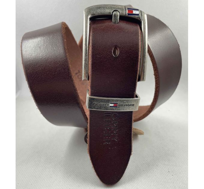 Мужской ремень джинсовый Exclusive TH40-053 коричневый