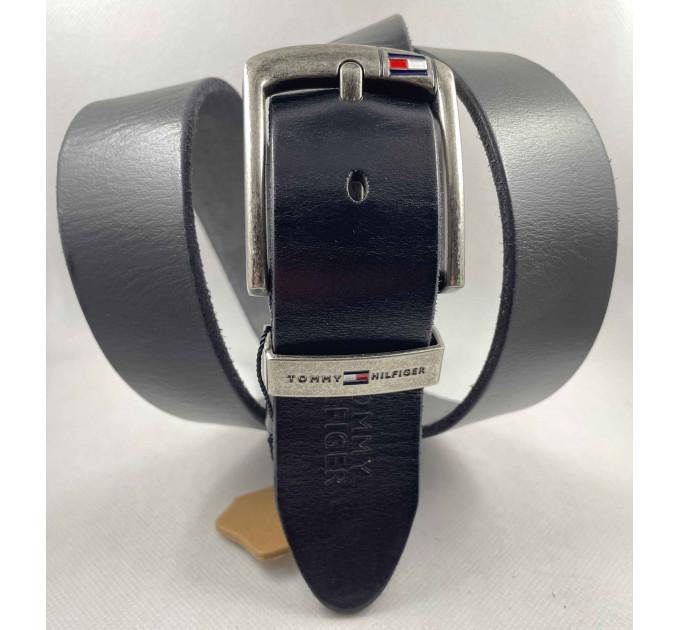 Мужской ремень джинсовый Exclusive TH40-054 черный